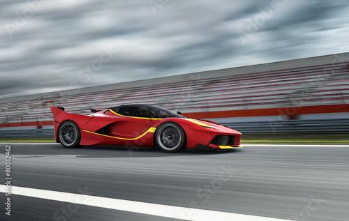 Staande foto Motorsport Auto Szene 216 roter Sportwagen