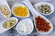 Leinwanddruck Bild - Variety of nutritional supplements.