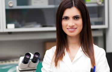 Female Scientist portrait