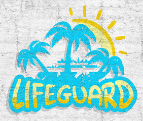 Lifeguard beach