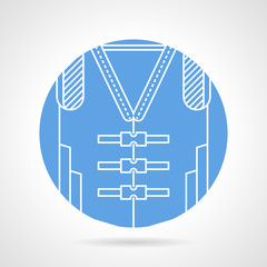 Blue vector icon for life jacket