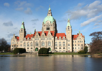 New Town Hall building Rathaus in Hannover,Germany