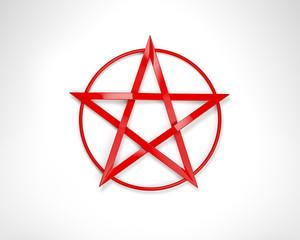 Rotes Pentagramm