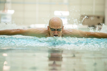 76 year old butterfly swimmer