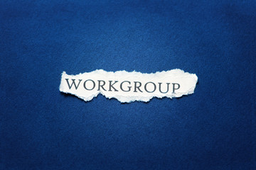 Workgroup paper