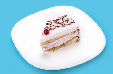 vanilla piece of cake closeup
