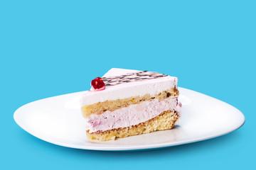 vanilla cream piece of cake