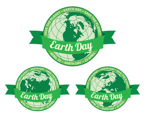 Earth day badget - Save the planet