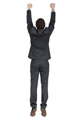 hanging man in black suit