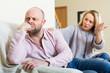 Casual family having quarrel