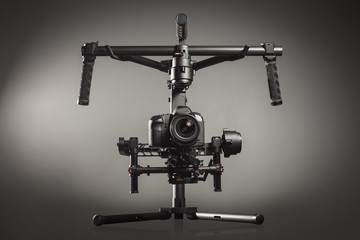 Video production stabilization gimball slr mount