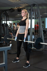 sporty man in gym