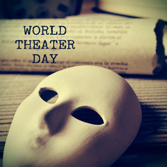world theater day, with a retro effect