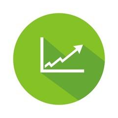 Icono gráfica éxito verde botón sombra