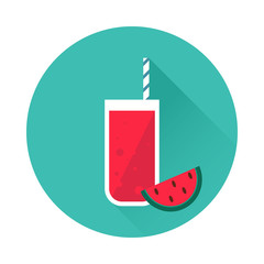 Watermelon juice vector icon