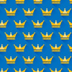 Vector crown seamless pattern