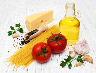 spagetti ingredients