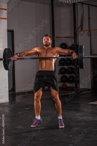 Foto op Plexiglas Fitness Overhead Squat