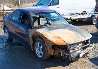 Burnt car, insurance claim