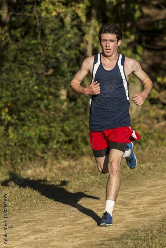 Papiers peints Jogging Male cross country runner