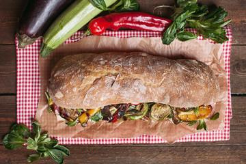 Rustic sandwich