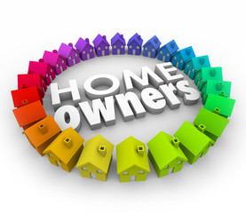 Home Owners Houses Neighborhood Buying Borrowing Money Real Esta