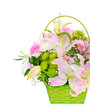Colorful Flowers Bouquet Isolated