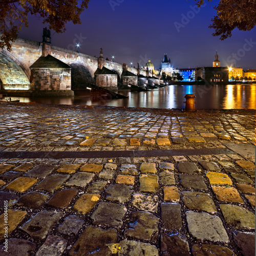 Poster Praag Charles Bridge in Prague
