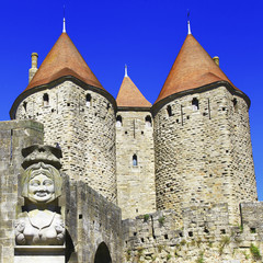 Carcassonne  biggest town-fortress, France.