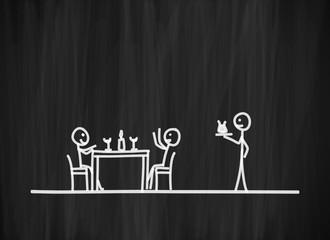 tafel mk im restaurant I