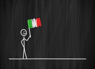 tafel mk fahne schwenken italien I