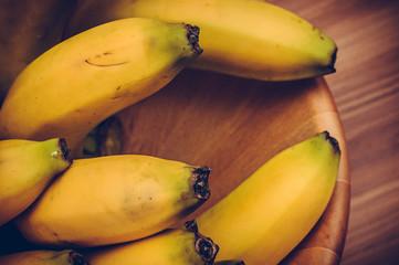 Bananas close up