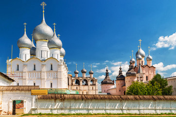 Old Orthodox church in Rostov the Great, Russia