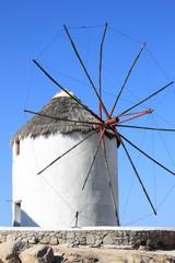 Typical windmill in Mykonos Island, Greece