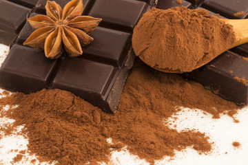 Chocolate,cocoa and anise