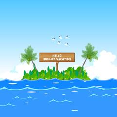 hello to tourist Island