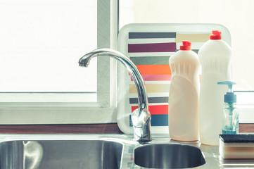 Kitchen tap close up