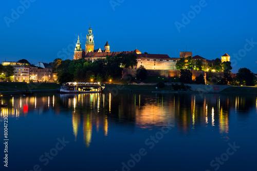 fototapeta na ścianę Wawel w nocy