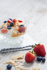 parfait and berries