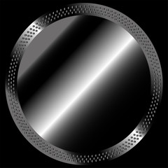 Circular metal Technical black Background