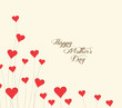 Mothers's Day flower background with hearts