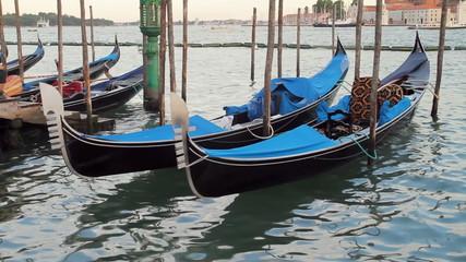 Venice Gondolas Docked