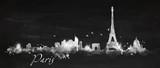 Silhouette chalk Paris