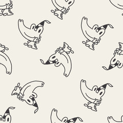 doodle birthday  crocodile seamless pattern background