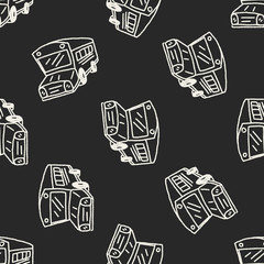 Doodle Bus seamless pattern background