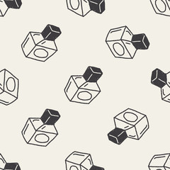 Doodle Perfume seamless pattern background