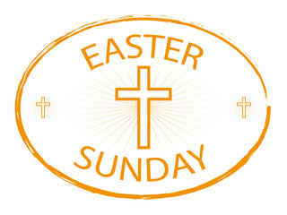 easter sunday jesus cross banner
