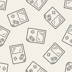 Doodle Consoles seamless pattern background