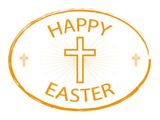 happy easter jesus cross banner