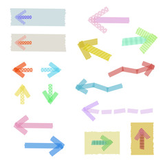 マスキングテープの矢印 / vector eps10